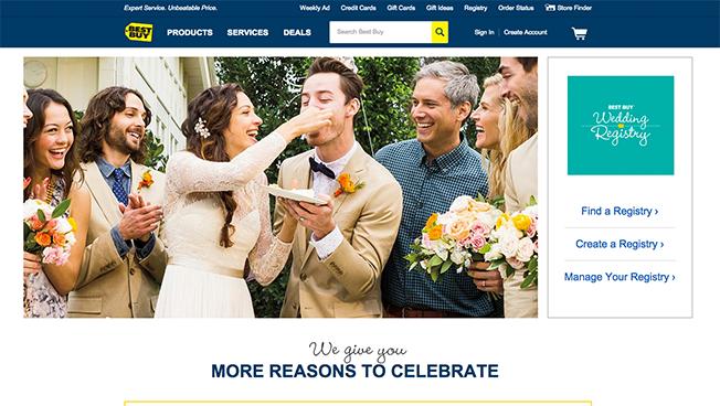 Best Buy Wedding Registry Dotcom Screen Image Featured