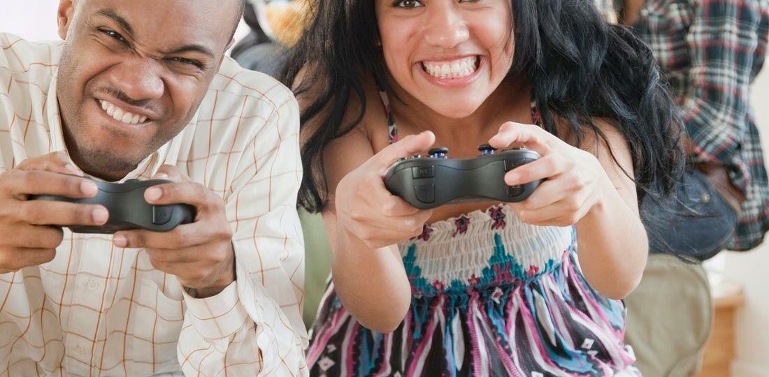 Holiday Gaming Couple